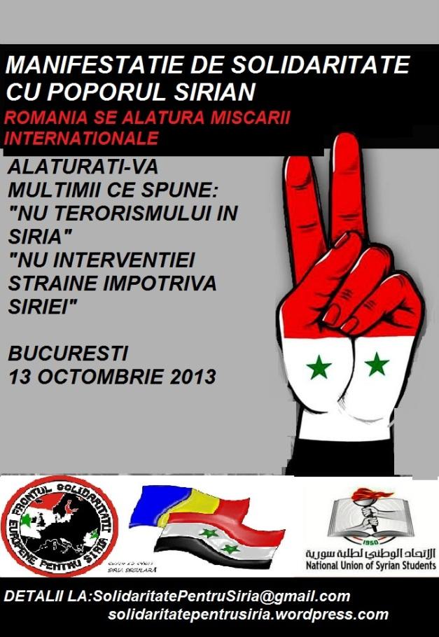 Solidaritate cu poporul sirian