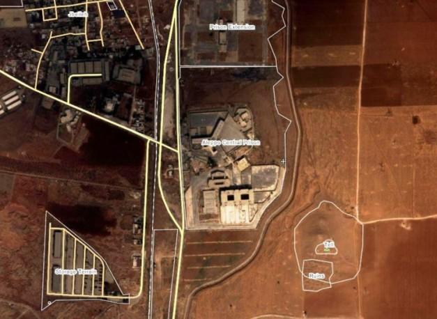 Aleppo-central-prison-freed-MAP