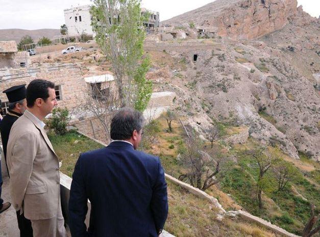 President Bashar al Assad visits Maloula